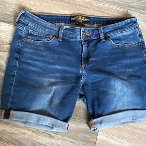 Lucky brand shorts size 8 (29) denim jeans womens